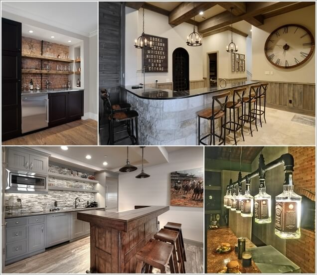 40 Cool Rustic Bar Design: Cool And Creative Home Bar Lighting Ideas