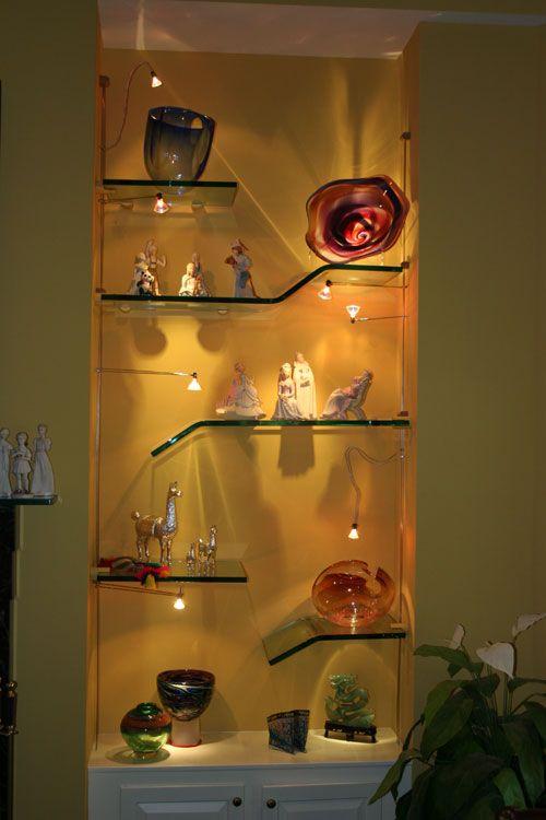 Impeccable Shelves Lighting Designs